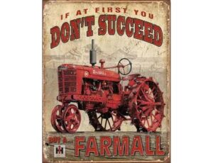 FARMALL TRACTOR VINTAGE METAL SIGN