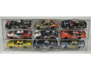 DISPLAY CASE FOR 1:24 SCALE DIE CAST - HOLDS 9 ON AN ANGLE