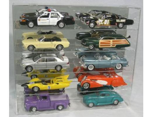 DISPLAY CASE FOR TEN 1:18 SCALE DIE CAST - MUSCLE