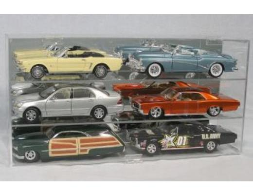 DISPLAY CASE FOR SIX 1:18 SCALE DIE CAST CARS