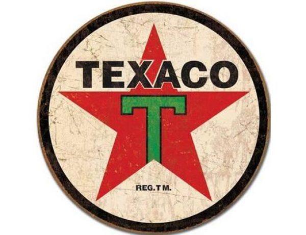 TEXACO LOGO METAL SIGN