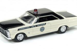 1965 Ford Galaxie - Tennessee State Trooper (cream with black) at diecastdepot