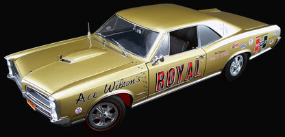 Ace Wilson's Royal 1966 Pontiac GTO Tiger Drag Car at diecastdepot