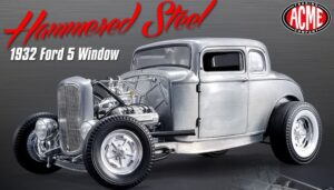 1932 Ford 5 Window 'Hammered Steel' Coupe at diecastdepot