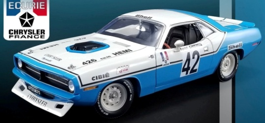 1970 Plymouth Hemi Cuda - Henri Chemin at diecastdepot