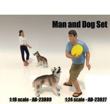 Man and Dog Set- 1:18 at diecastdepot