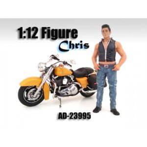 Biker Chris - 1:12 Scale (6 inches tall) at diecastdepot