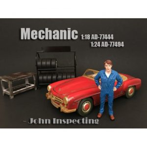 1:24 Mechanic Figurine - John Inspecting at diecastdepot