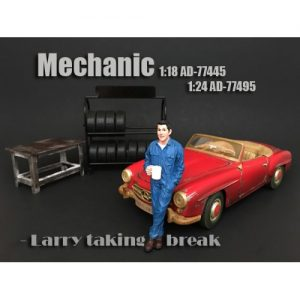 1:24 Mechanic Figurine - Larry Taking Break at diecastdepot
