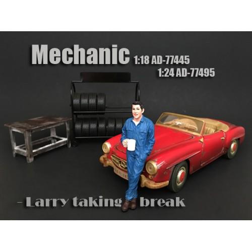1:24 Mechanic Figurine - Larry Taking Break at diecastdepot