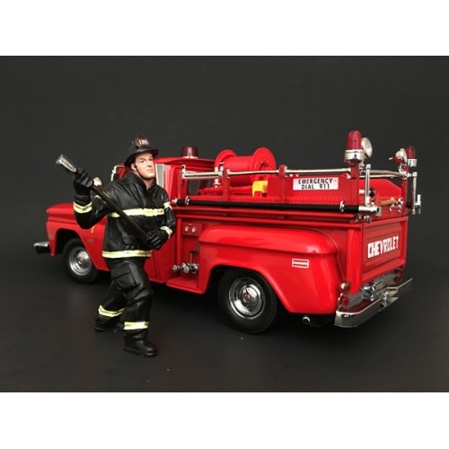 Firefighter - Holding Axe at diecastdepot