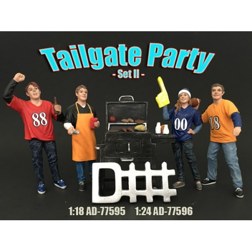 Tailgate Party Set of Figurines II at diecastdepot