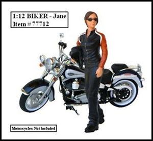 Biker Jane 1:12 scale (6 inches tall) figurine at diecastdepot