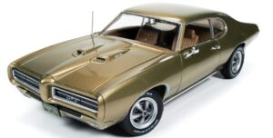 1969 Pontiac GTO (Hemmings Muscle Machine) Antique Gold at diecastdepot