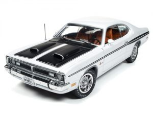 1971 Dodge Demon - White with Black & Orange Interior at diecastdepot