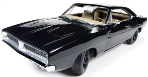 1969 Dodge Charger (Happy Birthday General Lee) black special edition at diecastdepot