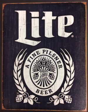 "Miller Lite - A Find Pilsner Beer---metal sign (16 x 12.5"") at diecastdepot"