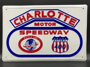 Charlotte Motor Speedway Metal Sign at diecastdepot