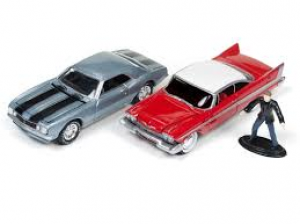 1958 Plymouth Fury and 1967 Chevy Camaro Set- Christine- Repperton's Reckoning at diecastdepot
