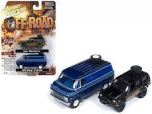 1998 Jeep Cherokee & 1976 Chevy Van -Johnny Lightning Off Road 2-Pack at diecastdepot