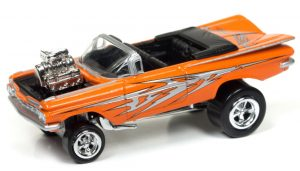 1959 Chevrolet Impala Convertible (Zinger) (Tangelo Orange Metallic) at diecastdepot