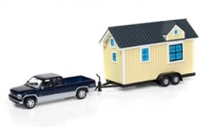 2002 Chev Silverado w/ Grey Siding Tiny house- JOHNNY LIGHTNING at diecastdepot