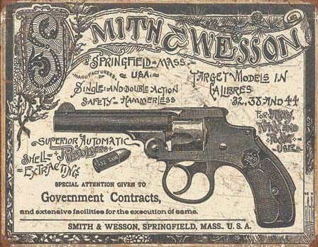 SMITH & WESSON - VINTAGE METAL SIGN at diecastdepot