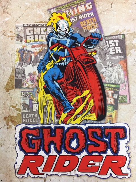 "Ghost Rider Splash Retro Metal Sign (16x12.5"") at diecastdepot"