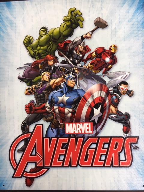 """Marvel Avengers Assemble - metal sign - 16x12.5"""" at diecastdepot"""