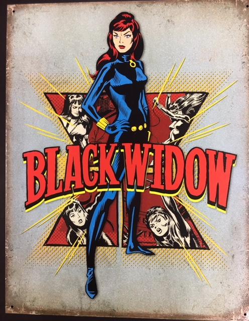 "Black Widow Retro Metal sign - 16x12.5"" at diecastdepot"