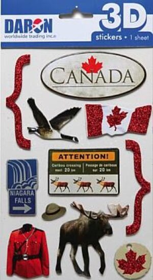 3D Canada Sticker Set at diecastdepot