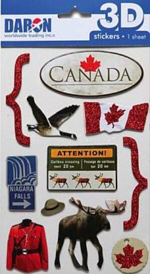 3D Canada Sticker Set at diecastdepot