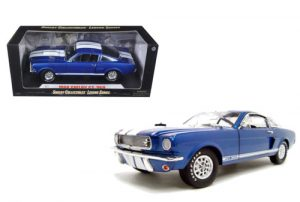 1966 Ford Shelby Mustang GT 350 Blue at diecastdepot