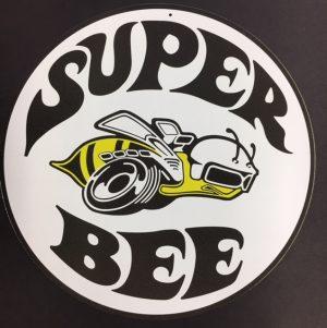 SUPER BEE ROUND METAL SIGN at diecastdepot