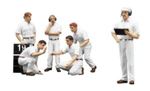 Pit Crew Figurines - Classic Style White - TSM -1:18 scale at diecastdepot