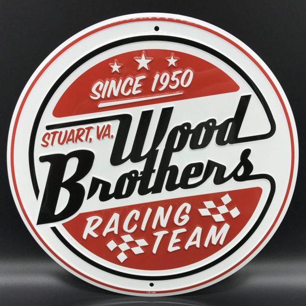 Wood Brothers Racing Team Metal Sign at diecastdepot