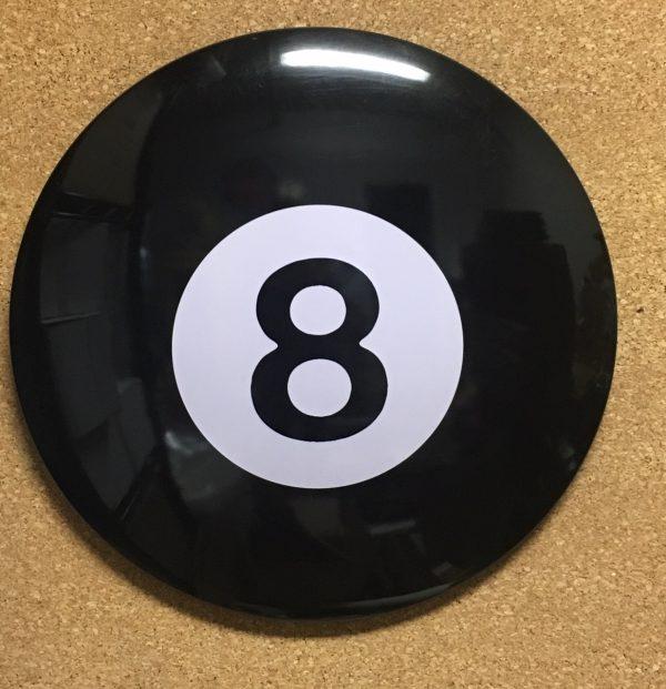 187343 - BLACK 8 BALL DOMED METAL SIGN