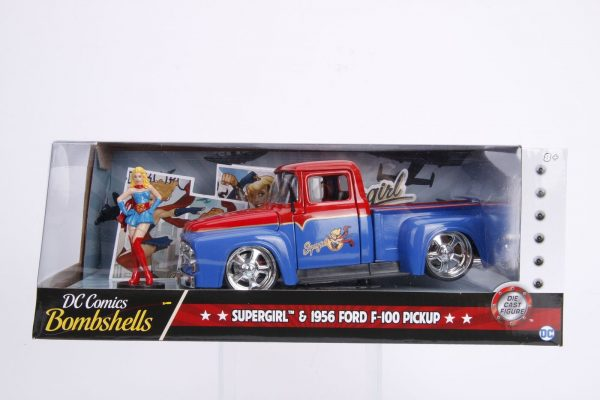 30454 1.24 dc comics bombshells 1956 ford f100 w supergirl 7 - 1956 FORD F100 W/SUPERGIRL - DC COMICS BOMBSHELLS