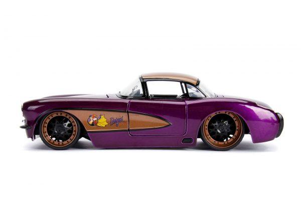 30457 1.24 dc comics bombshells 1957 corvette w batgirl 5 - 1957 CHEVY CORVETTE W/BATGIRL -DC COMICS BOMBSHELLS