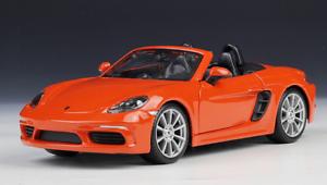 18 21087or - Porsche 718 Boxster- Orange 1:24