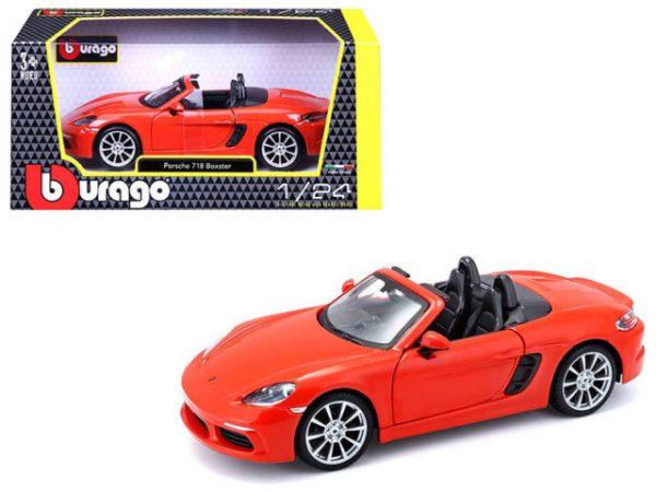 18 21087oran - Porsche 718 Boxster- Orange 1:24