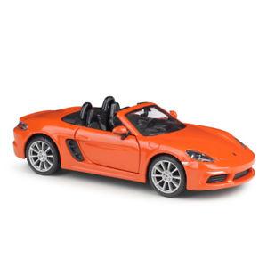 18 21087orange - Porsche 718 Boxster- Orange 1:24