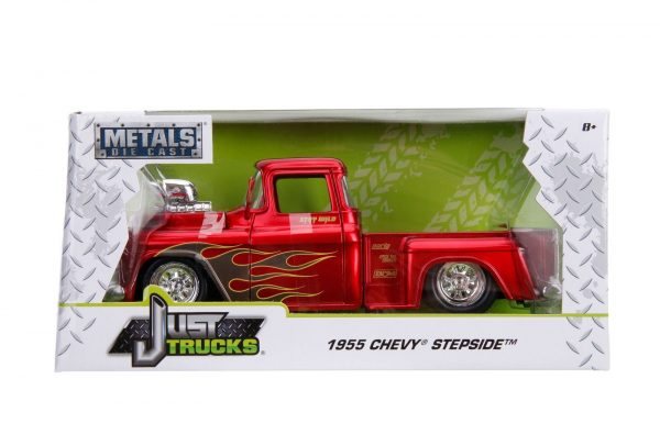 30713 1.24 just trucks 1955 chevy stepside candy red 5 - 1955 Chevy Stepside Pick up Truck – Candy Red