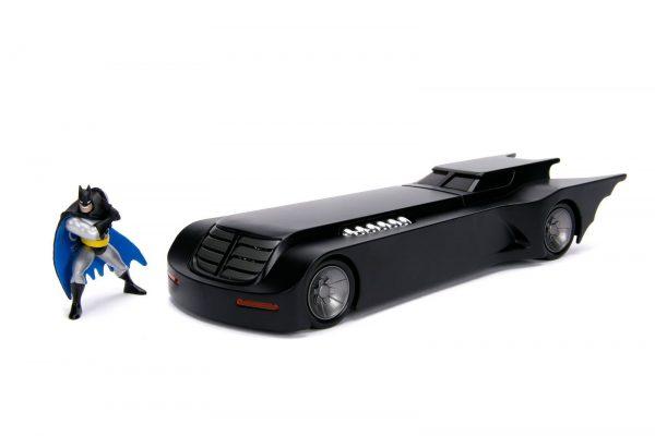 30916 1.24 animated series batmobile w batman 2 - ANIMATED SERIES BATMOBILE W/BATMAN