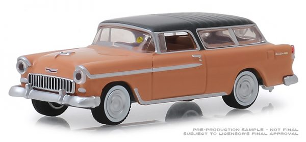 37170 a - 1955 Chevrolet Nomad - Shadow Gray & Coral