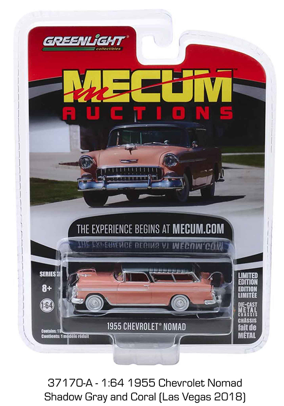 37170a 1 - 1955 Chevrolet Nomad - Shadow Gray & Coral