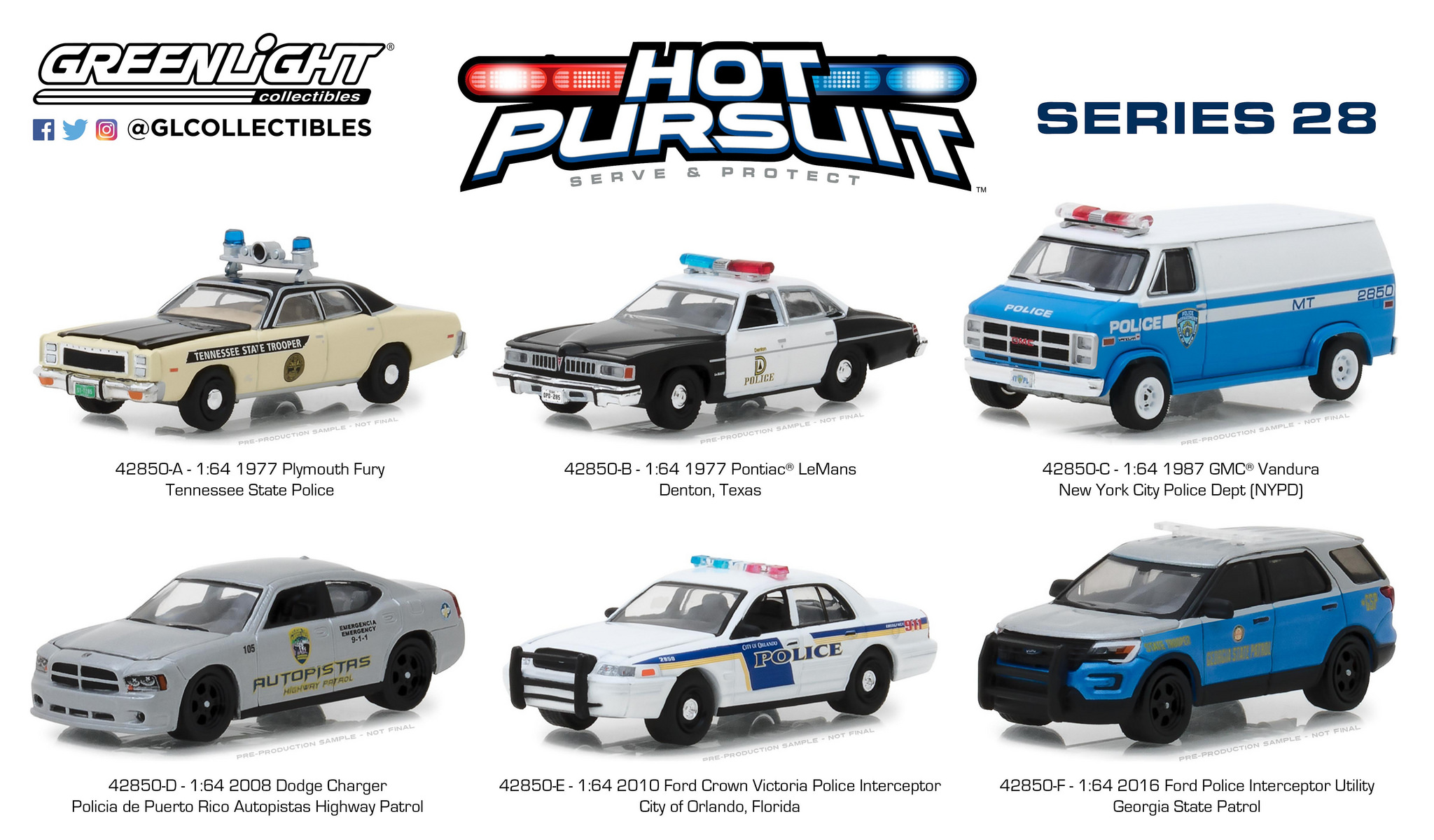 2008 Dodge CHARGER Police Puerto Rico Highway Patrol *** Greenlight 1:64 sale *