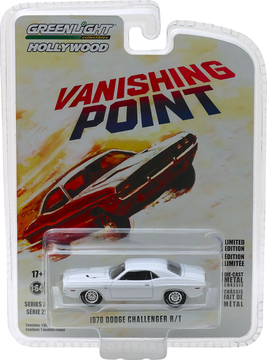 44820a - 1970 DODGE CHALLENGER R/T - VANISHING POINT, GREENLIGHT HOLLYWOOD SERIES 22