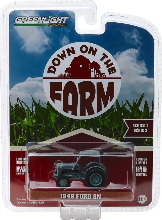 48020b - 1949 Ford 8N Tractor in Grey with Cab Down on the Farm Series 2