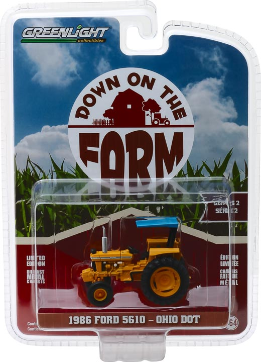 48020d - Ohio Department of Transportation (ODOT) - 1986 Ford 5610 Tractor in Yellow and Blue Down on the Farm Series 2
